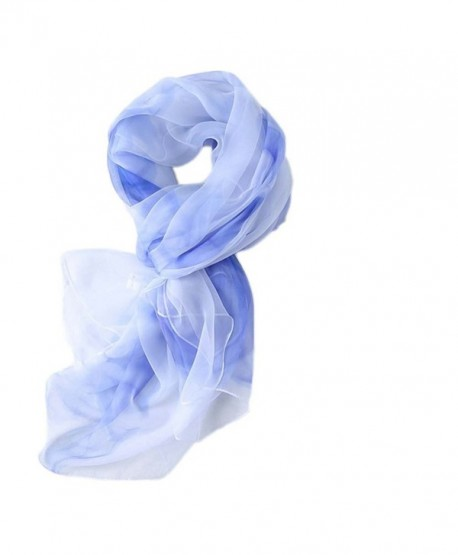 S&S Women's Lightweight Silk Feeling Infinity Scarves Large Long Shawl Wrap - 02-sky Blue - CP184X7Z4X8
