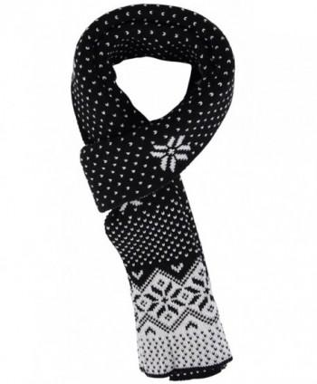 Womens Winter Chunky Crochet Snowflake