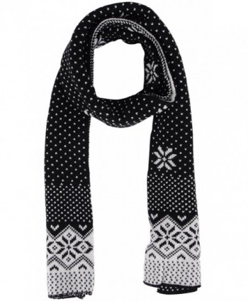 Womens Winter Chunky Crochet Snowflake in Fashion Scarves