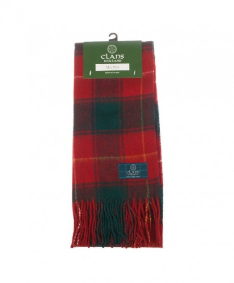 Clans Of Scotland Pure New Wool Scottish Tartan Scarf Macphie (One Size) - CY123H45CXH