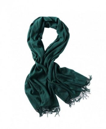 Bellonesc Cashmere Scarf Shawls for Women and Men - Green - C3186YMKOWD