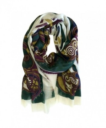 "Book of Kells Scarf Purple & Green 80"" x 42"" - C212IWQYG7X"