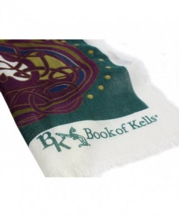 Book Kells Scarf Purple Green in Fashion Scarves