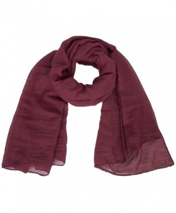 4a2194bc140a2 MissShorthair Womens Long Scarf in Solid Color Large Sheer Shawl Wraps for  Evening - 10 Burgundy; Womens Scarf Evening MissShorthair Burgundy; Womens  Scarf ...