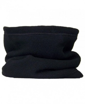 Best Winter Hats Reversible 100% Polyester Fleece Neck Gaiter/Warmer - Black - CP11GSSNFGB