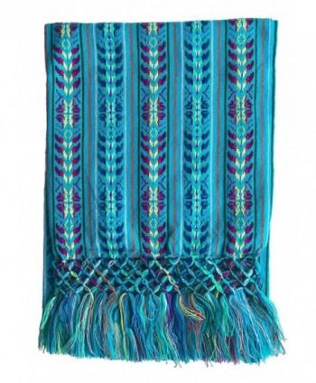 Mexican Handmade Colorful Rebozo Shawl
