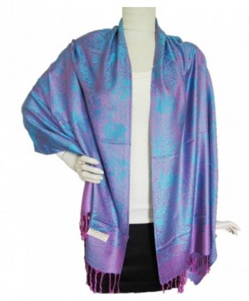 Elephant Print Cashmere Shawls Punch in Fashion Scarves