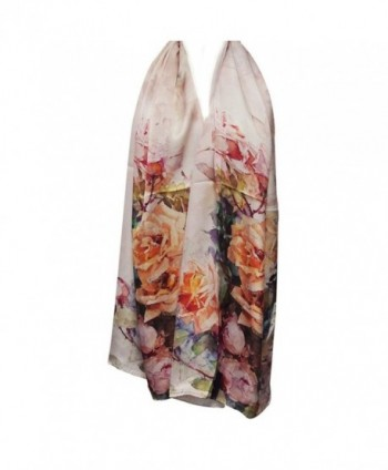 Wrapables Luxurious Charmeuse Floral Painting