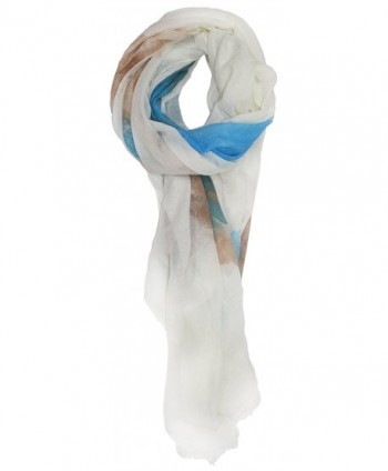 Ted and Jack - Summer Splash Tie Dye Scarf - Blue and Beige - CW12FWXZMY5