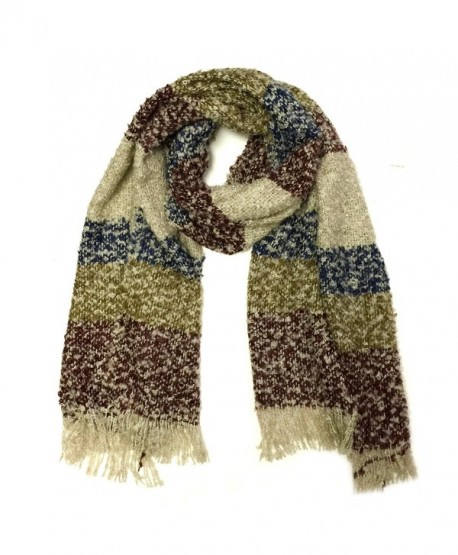 Wrapables Warm Fall and Winter Shawl Wrap Scarf with Tassels - Burgundy - CF11RS8P2ZH
