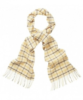 Original Montgomery Scottish Lambswool Check Scarf - House Check Tatershall - CX119NJLEV5