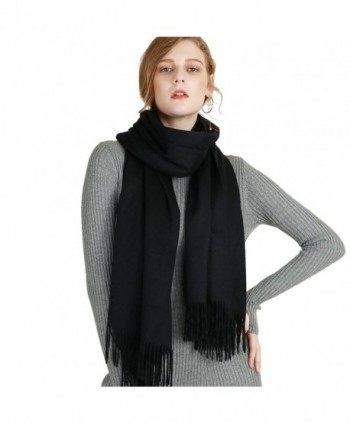 "Luxurious Men and Women's 100 % Cashmere cosy and stylish scarfs 63""x12"" - Black - CK187I0C3I7"