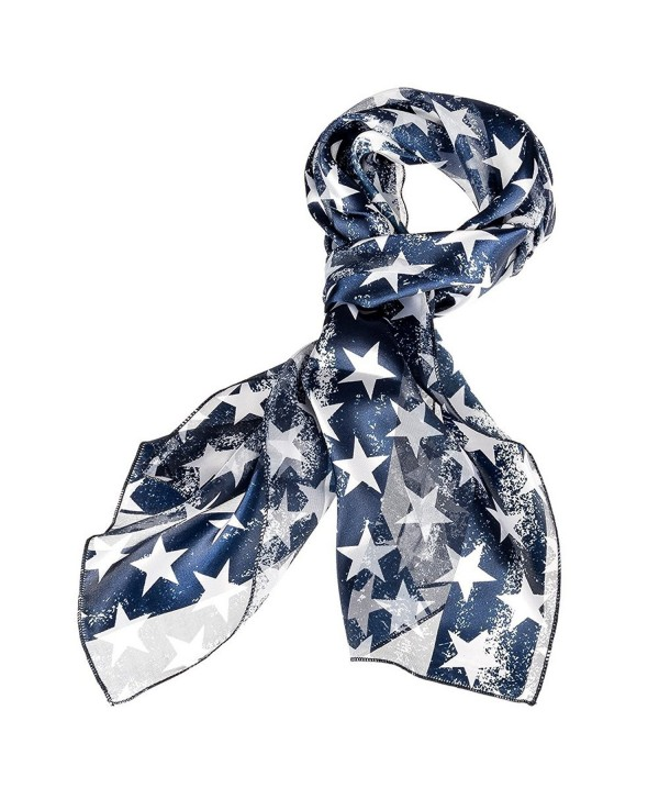 Purple Box Jewelry Patriotic Star Scarf (Faded Blue) - CB11A8ZSTSD