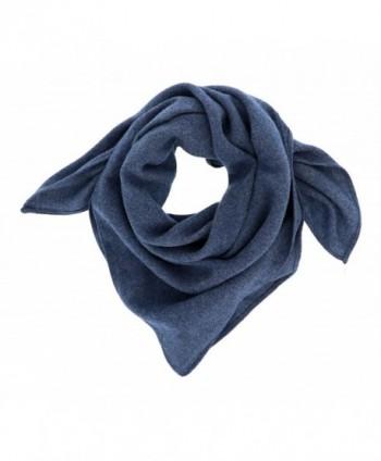 Wool Feel Bandana Turban Chemo Head Scarf Hair Cover Sleep Turban Neckerchief - Jean Blue - CQ12NZGNPBL