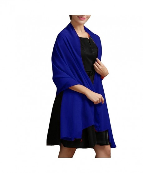 Aiyi Women's Sweetheart Beaded Chiffon Long Prom Bridesmaid Dress - Royal Blue - CZ185X06CS0