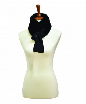 Faux Fur Collar Scarf - Black - C21868YM9I3
