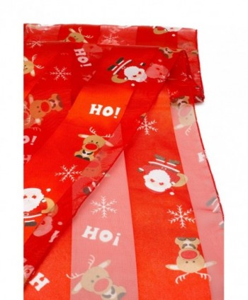 Crown Christmas Scarf Gift Santa Red in Fashion Scarves