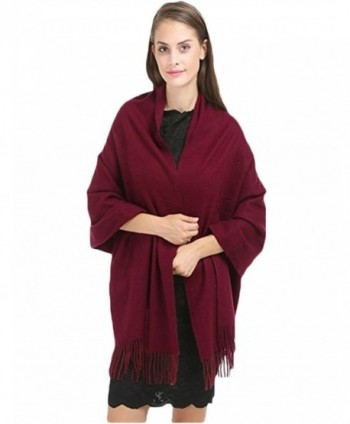 ALAIX Womens'Cashmere Feel Lightweight Scarf Winter Shawl Wrap - Weinred - C8187U8UON5