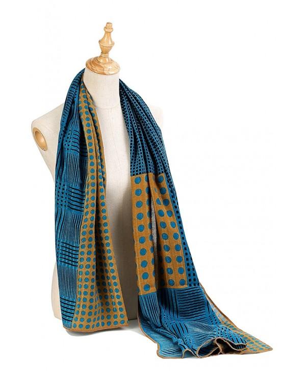 Premium Women Extreme Soft Scarf Wrap Shawl For Any Season- Super Size- Rich Pattern Choice - Polka Dot - Peacock - CX182M8XYDD