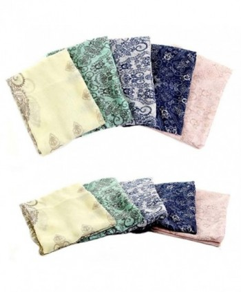 OnFine2016 Summer flowers chiffon Cream coloured in Fashion Scarves