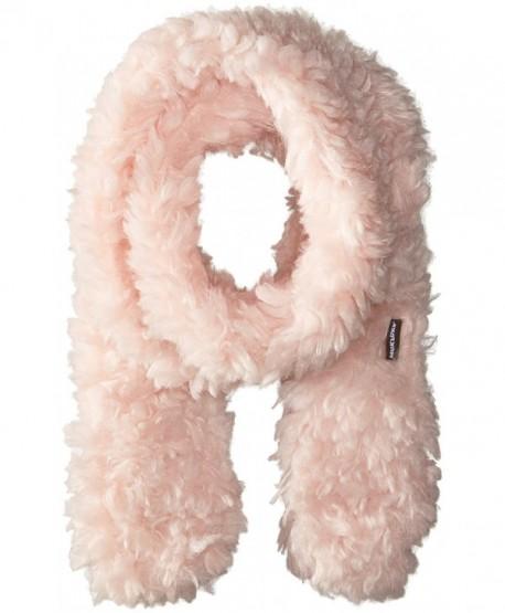 Muk Luks Women's Rustic Romance Long Skinny Scarf-Fuzzy - Light Pink - C312F6B23HH