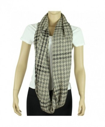 Toned Houndstooth Infinity Scarf Black
