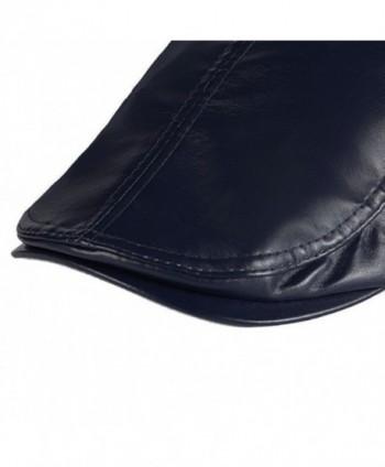 Leather Duckbill Vintage Newsboy Hat Blue