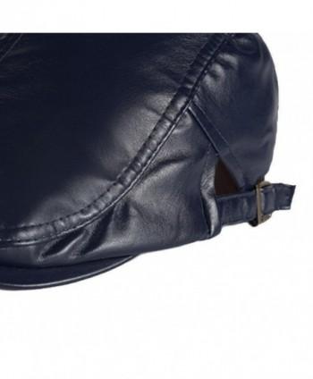 Leather Duckbill Vintage Newsboy Hat Blue in Men's Newsboy Caps