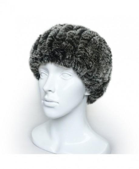 lethmik Head Wraps Womens Head Infinity Scarf Real Rex Rabbit Knit Headband Warm Neck - Black Snow - CD120R635OL