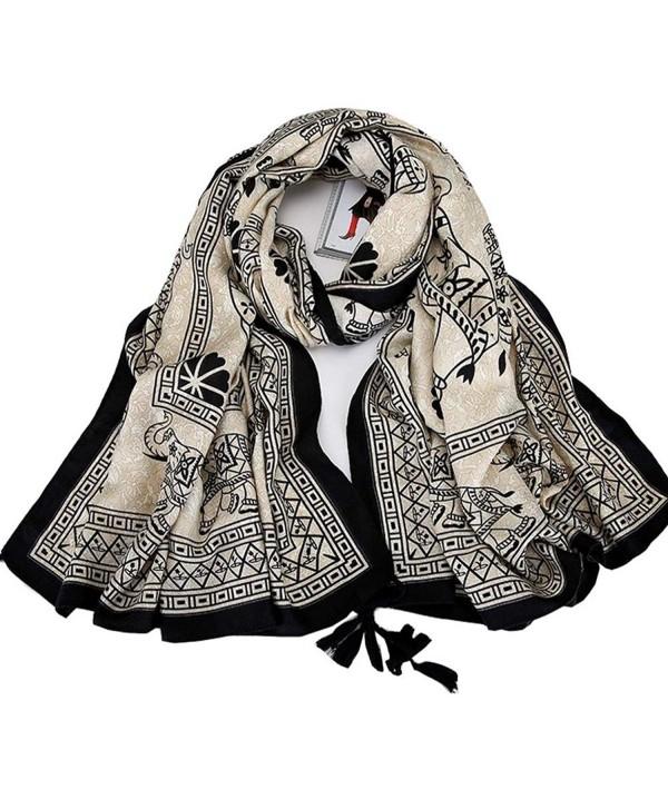 Women's Boho Bohemian Soft Gorgeous Oversized Fringed Scarf Wraps Shawl Lady Gift - Pic8 - CM189ICW24C