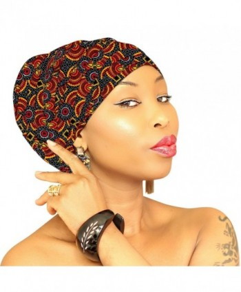 Premium & Fancy Large Head Wrap- Head Scarves- Head Bands for Women in Cotton - Multi-orange-yellow - CO186HNQ96R