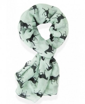 V28 Gorgeous Designer Style Horse Print Scarf- Shawl- Sarong - Mint - CX128IE3IGT