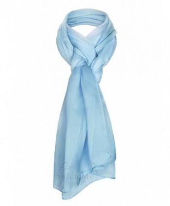 Swhiteme Chiffon Scarf - Sky Blue - CR11OQBCCBV