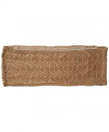 Womens Mixed Crochet Loop Khaki