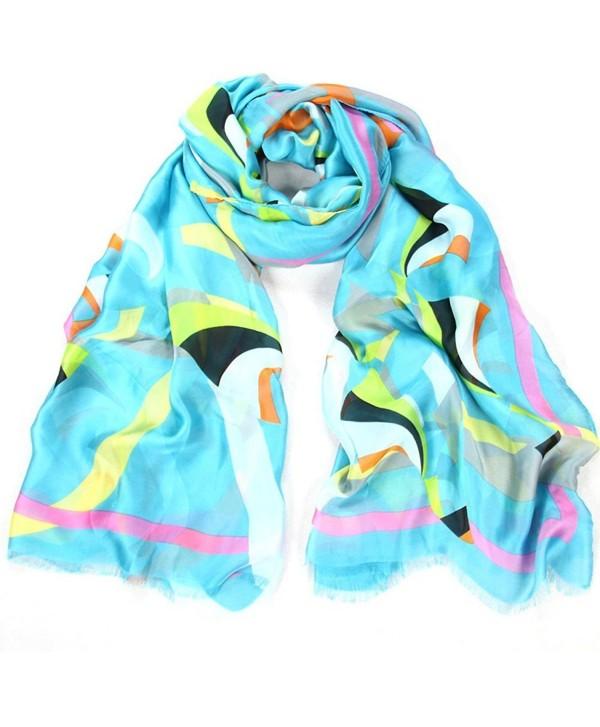 Alotpower Soft Light-weight Beach Scarf Fashion Beach Towel Large Wrap Shawl - Blue - C412GKLD67X