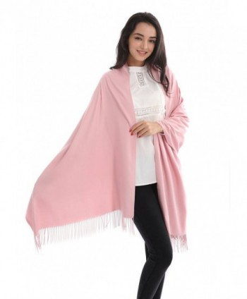 L&FY Fashion Scarves Cold Weather Neck Scarf Wrap Imitation Cashmere Scarf Gift For Mother Wife - Baby Pink - CN188NIE9ME