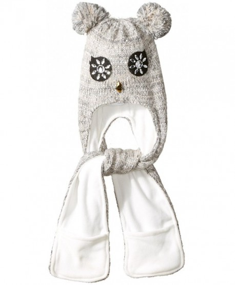 The Children's Place Girls' Owl Hat AND Scarf Cold Weather Set - Ice Cave 90175 - CN182H9557Z