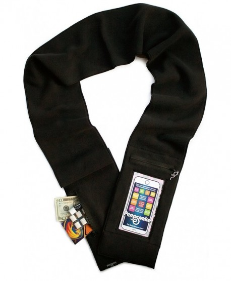 Peepsnake Smartphone Scarf- Touchscreen Pocket- Back Camera Window- iPhone - Black W/ Xlarge Window - CZ12N777MXL