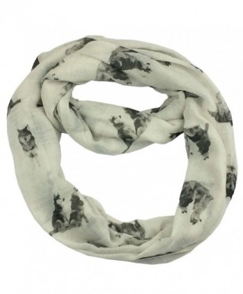 Snow Wolf Cotton Scarf CSJ-L-60 (WT) - W - CS12OB19MY5