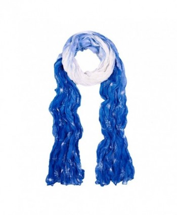 Chic Ombre Watercolor Snowflake Scarf - Different Colors Available - Blue - CE11GIU8T0L