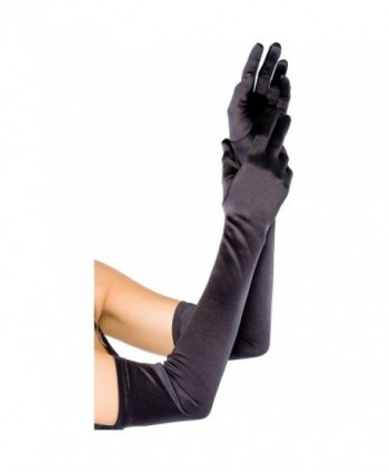 "GYBest Classic Adult Size 21"" Long Party Bridal Dance Opera Length Satin Gloves - Black - CE120EXXHYZ"