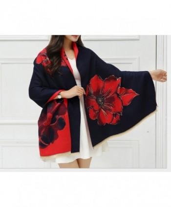 Cashmere shawl Women Navy blue