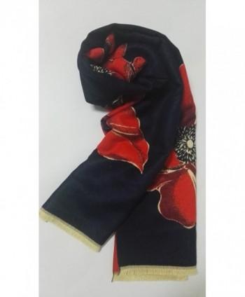 Cashmere shawl Women Navy blue in Wraps & Pashminas