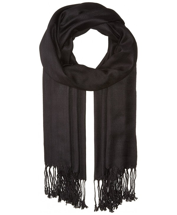 "Falari Women's Soft Solid Color Pashmina Shawl Wrap Scarf 80"" X 27"" - Black - CW11PJIW8Q9"