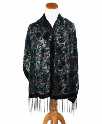 Ted Jack Peacock Burnout Brocade in Fashion Scarves