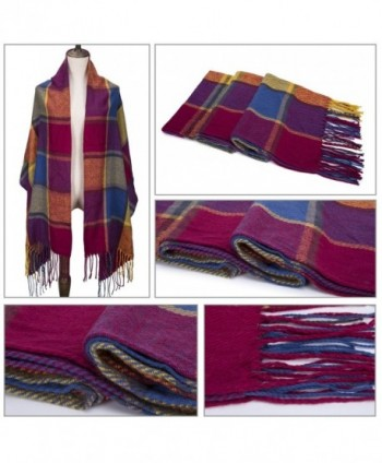 CHASOEA Blanket Lattice Scarves Multicolour in Cold Weather Scarves & Wraps