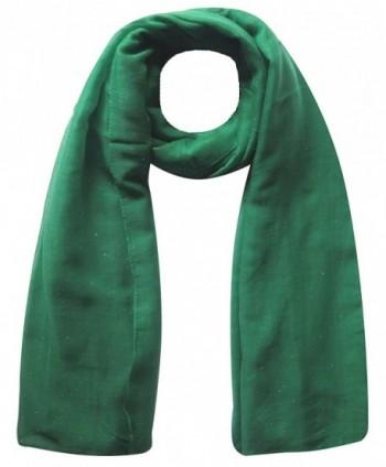 Plain Maxi Glitter Sparkle Shimmer Scarf Hijab Head Wrap Shawl Large Size - Dark Green - CI1220CCYY7
