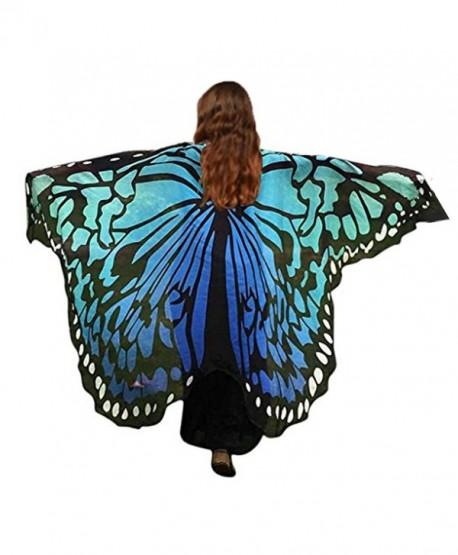 bfc7af80515 HITOP Women Soft Chiffon Halloween Party Butterfly Wings Shawl Festival  Wear Dress Up Cape - Black