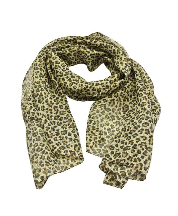 Wrapables Classic Leopard Print Scarf - Brown & Tan - C911BUWT9AF