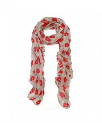 Cherry Blossom Sakura Floral Fashion Scarf Wrap - Different Colors Available - Taupe - CC11OBT013T